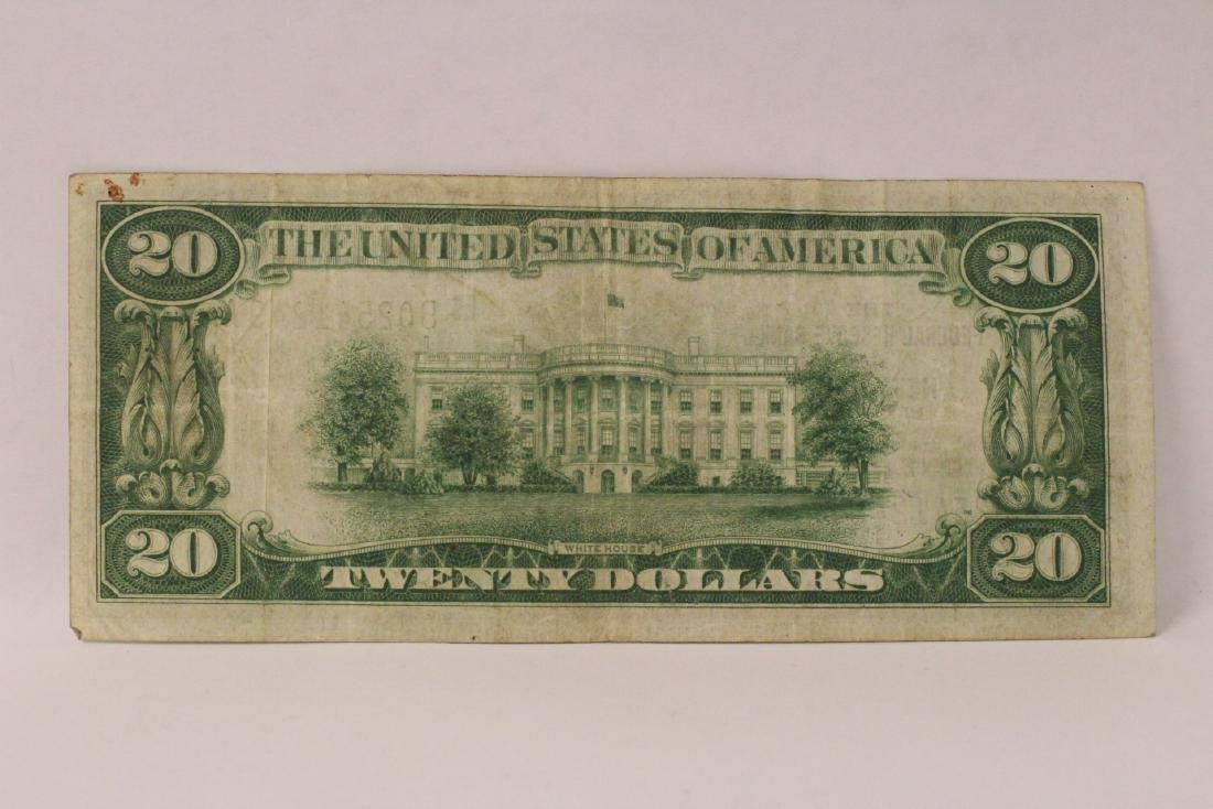 1929 Federal Reserve $20 note for Bank of New York - 6