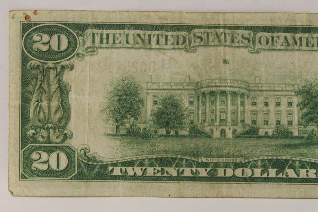 1929 Federal Reserve $20 note for Bank of New York - 7