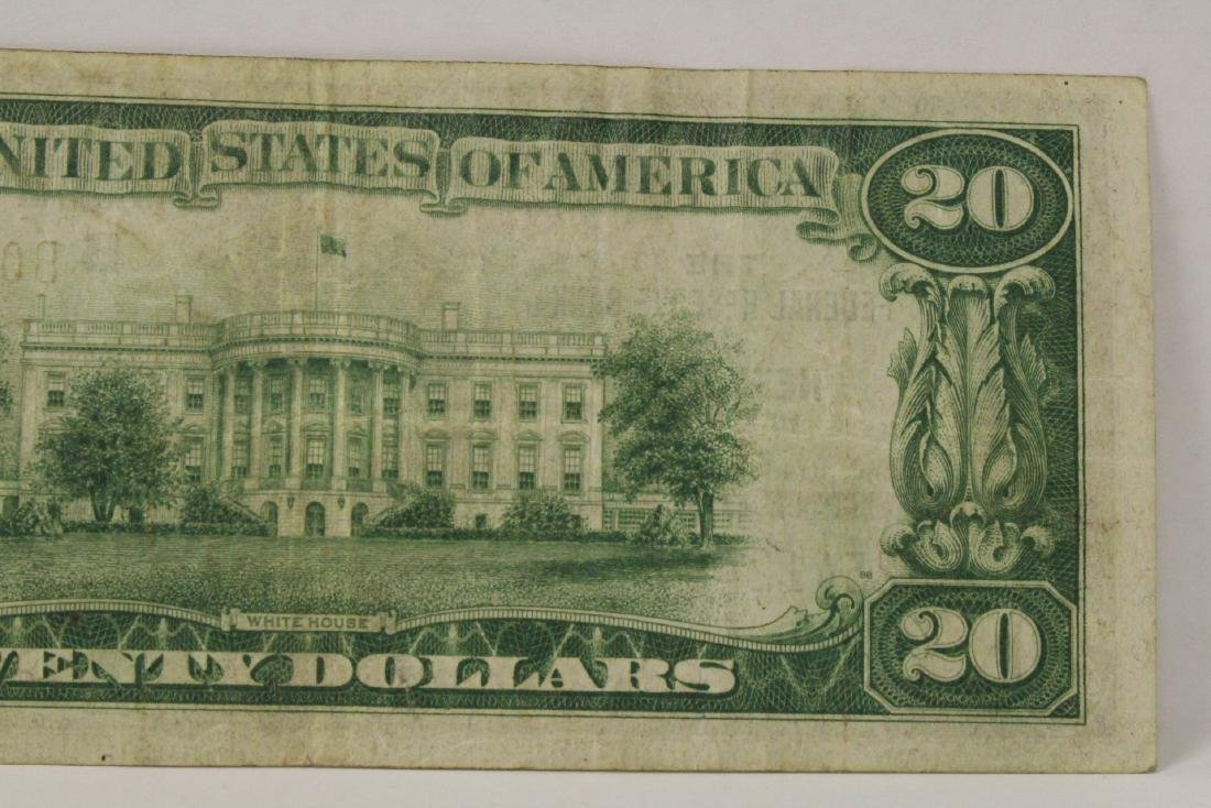 1929 Federal Reserve $20 note for Bank of New York - 8