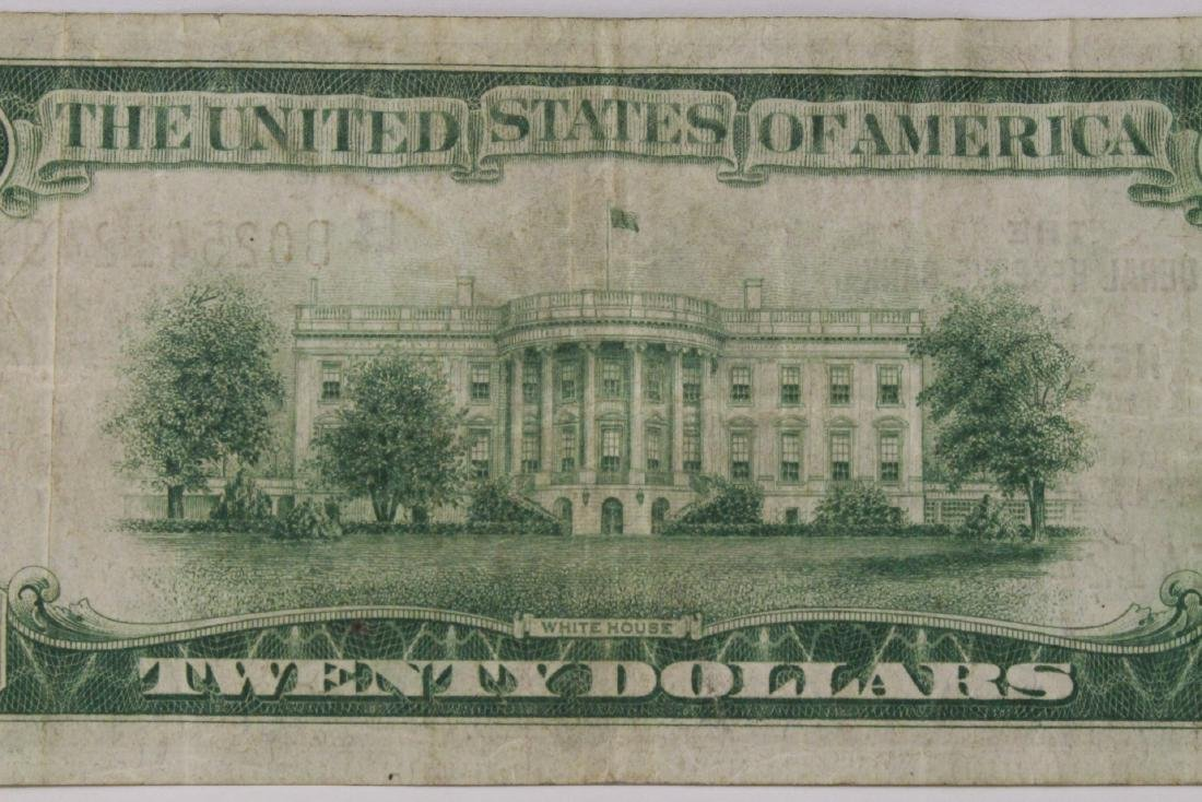 1929 Federal Reserve $20 note for Bank of New York - 9