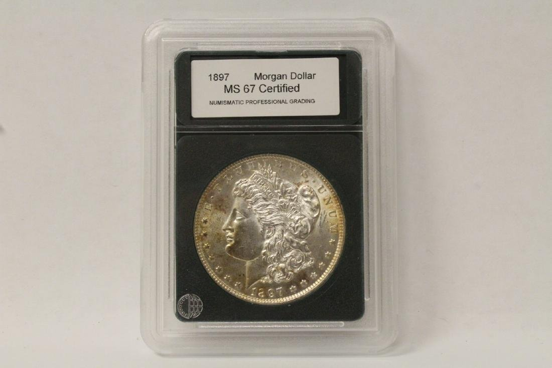 Beautiful 1897 Morgan silver dollar