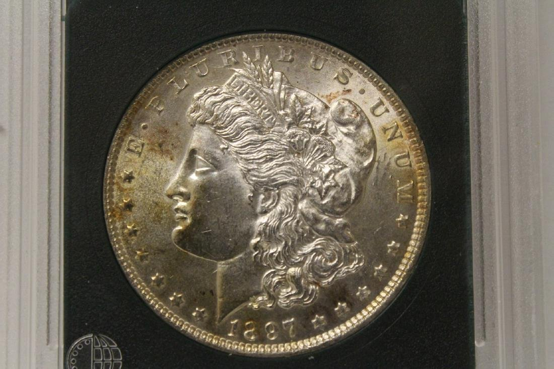 Beautiful 1897 Morgan silver dollar - 3