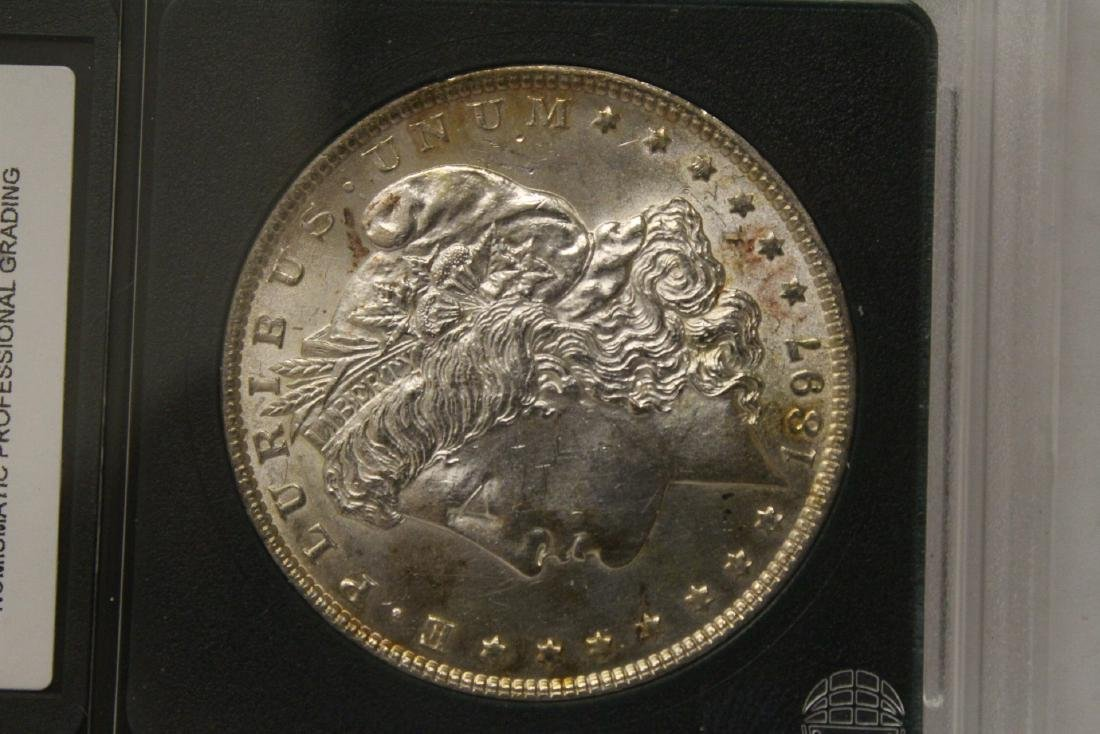 Beautiful 1897 Morgan silver dollar - 7