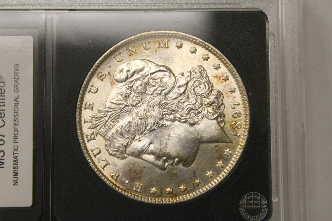 Beautiful 1897 Morgan silver dollar - 9