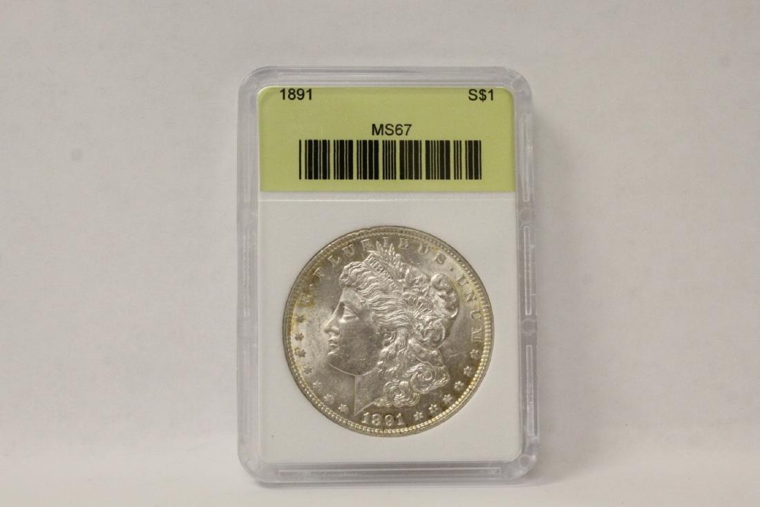 A rare 1891 silver dollar