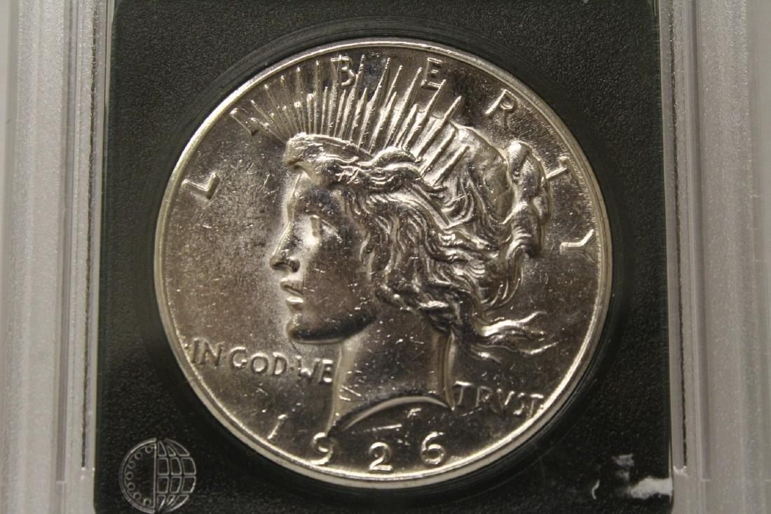 3 Morgan silver dollars & 3 rare date peace dollars - 10