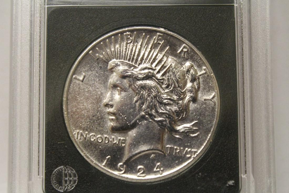 3 Morgan silver dollars & 3 rare date peace dollars - 2