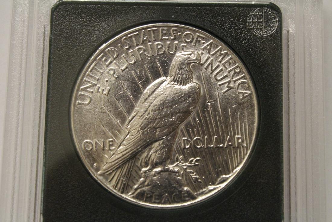 3 Morgan silver dollars & 3 rare date peace dollars - 3