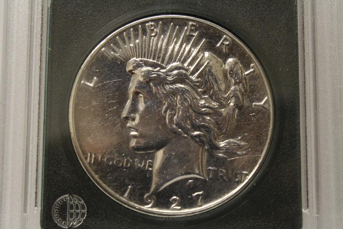 3 Morgan silver dollars & 3 rare date peace dollars - 6
