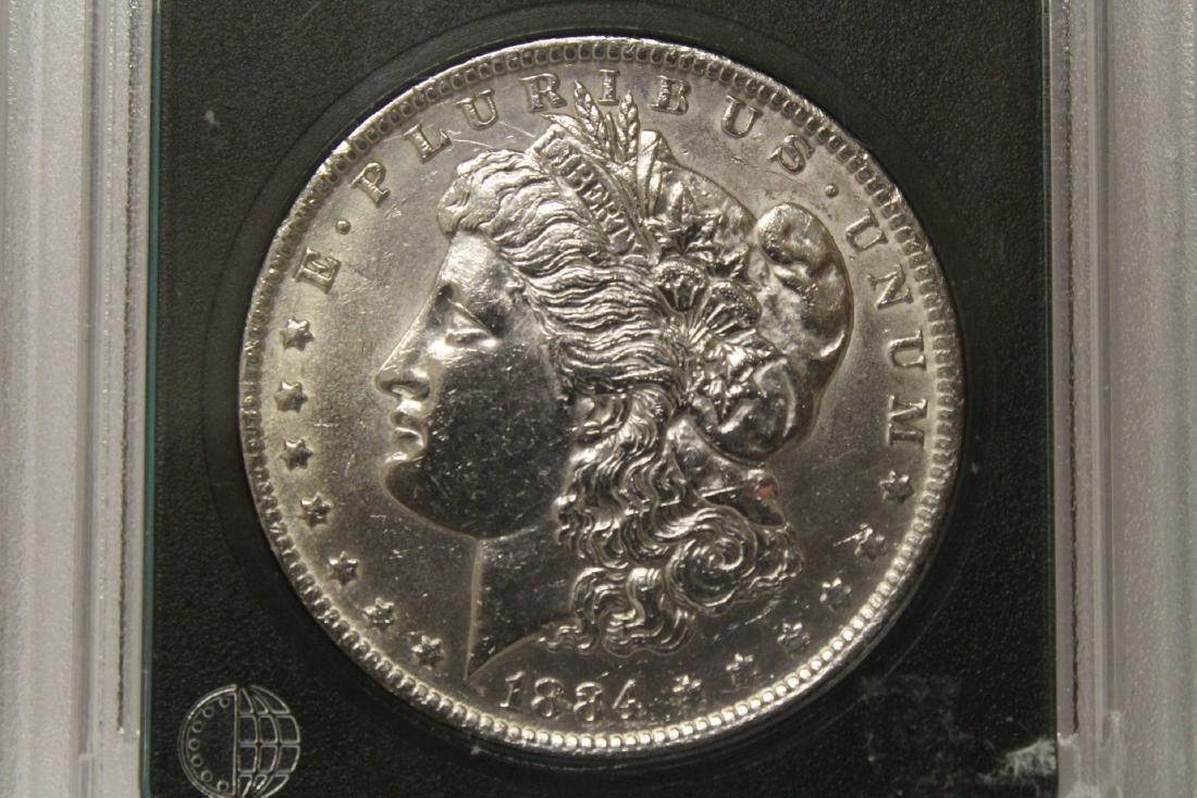 3 Morgan silver dollars & 3 rare date peace dollars - 8