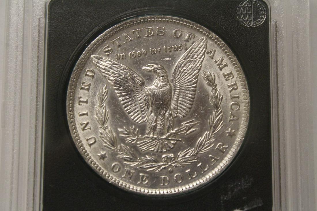 3 Morgan silver dollars & 3 rare date peace dollars - 9