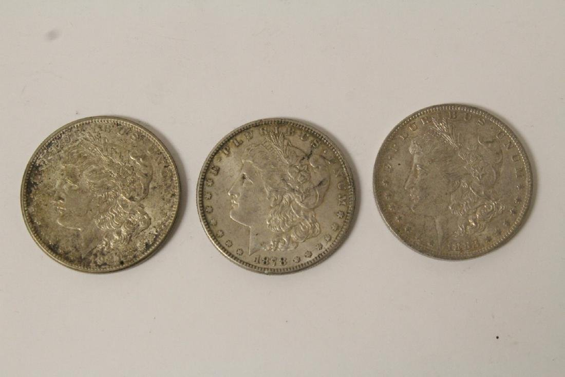 12 US silver dollars - 6
