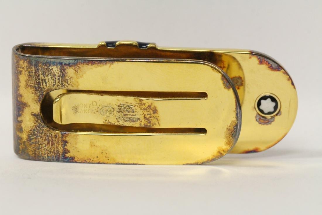 A Mont Blanc gilt silver money clip in original box - 10