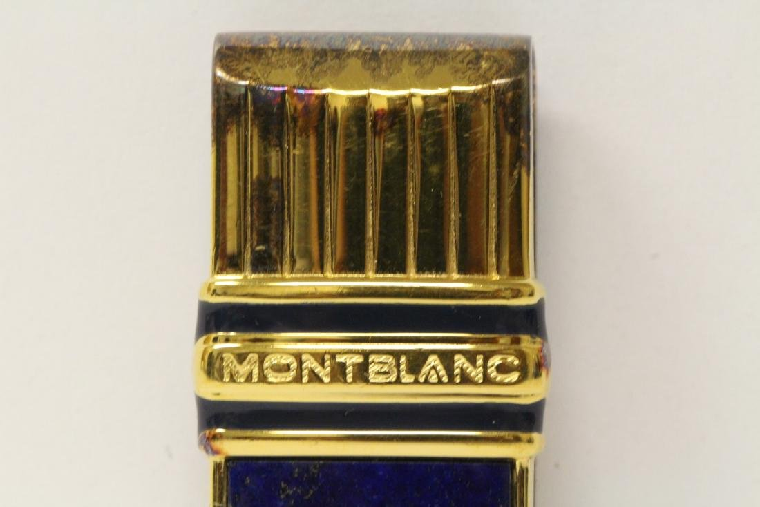 A Mont Blanc gilt silver money clip in original box - 4