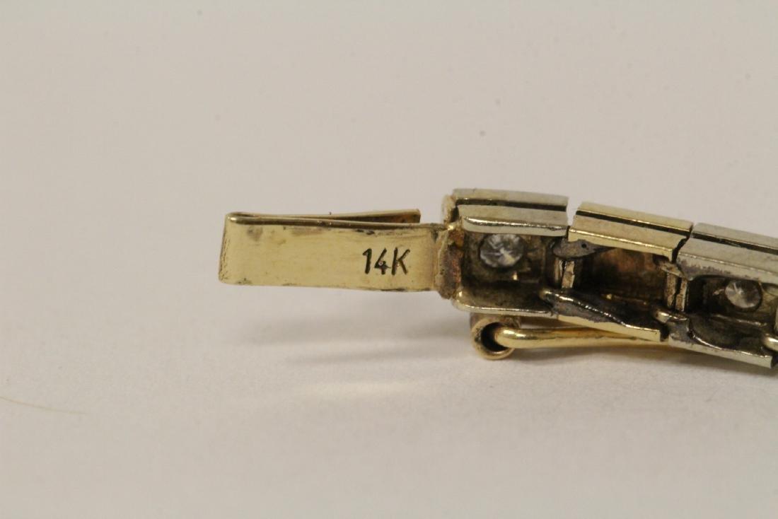 14K bicolor streamline diamond bracelet - 10
