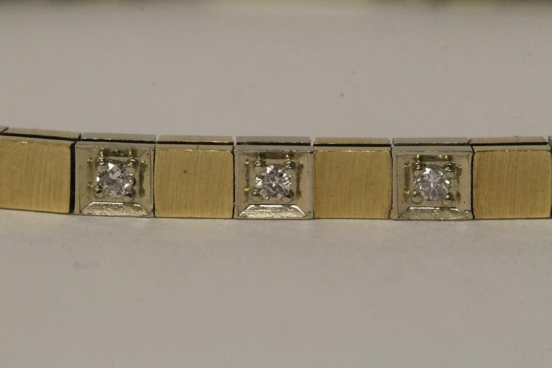 14K bicolor streamline diamond bracelet - 4