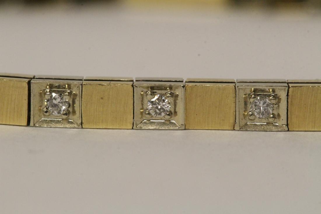 14K bicolor streamline diamond bracelet - 5