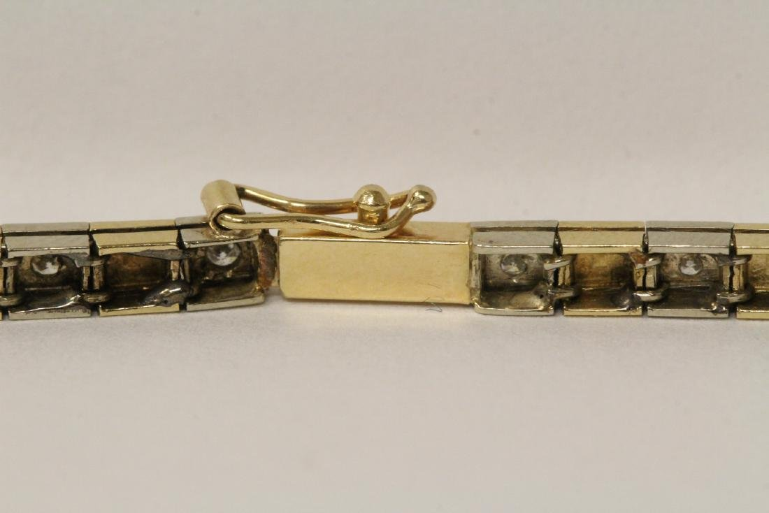 14K bicolor streamline diamond bracelet - 6