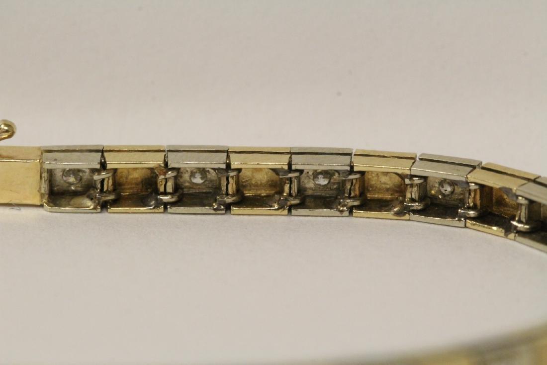 14K bicolor streamline diamond bracelet - 7