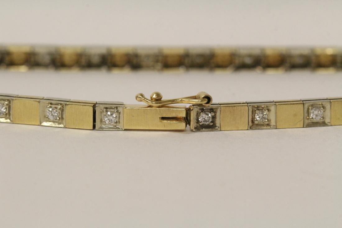 14K bicolor streamline diamond bracelet - 9