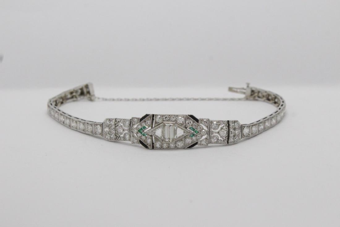 An important platinum diamond bracelet