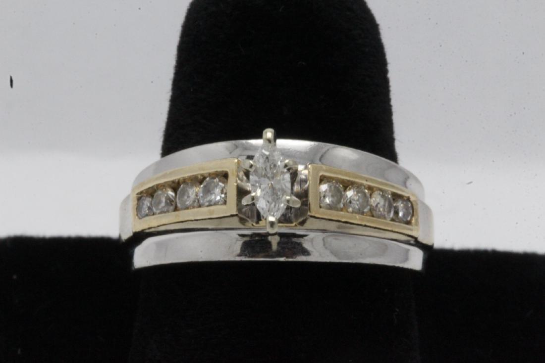 14K Y/G diamond ring,