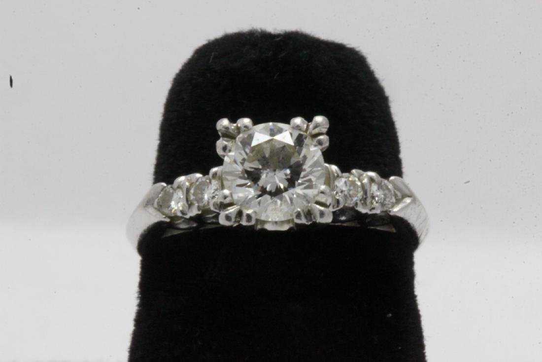 A beautiful platinum diamond ring,