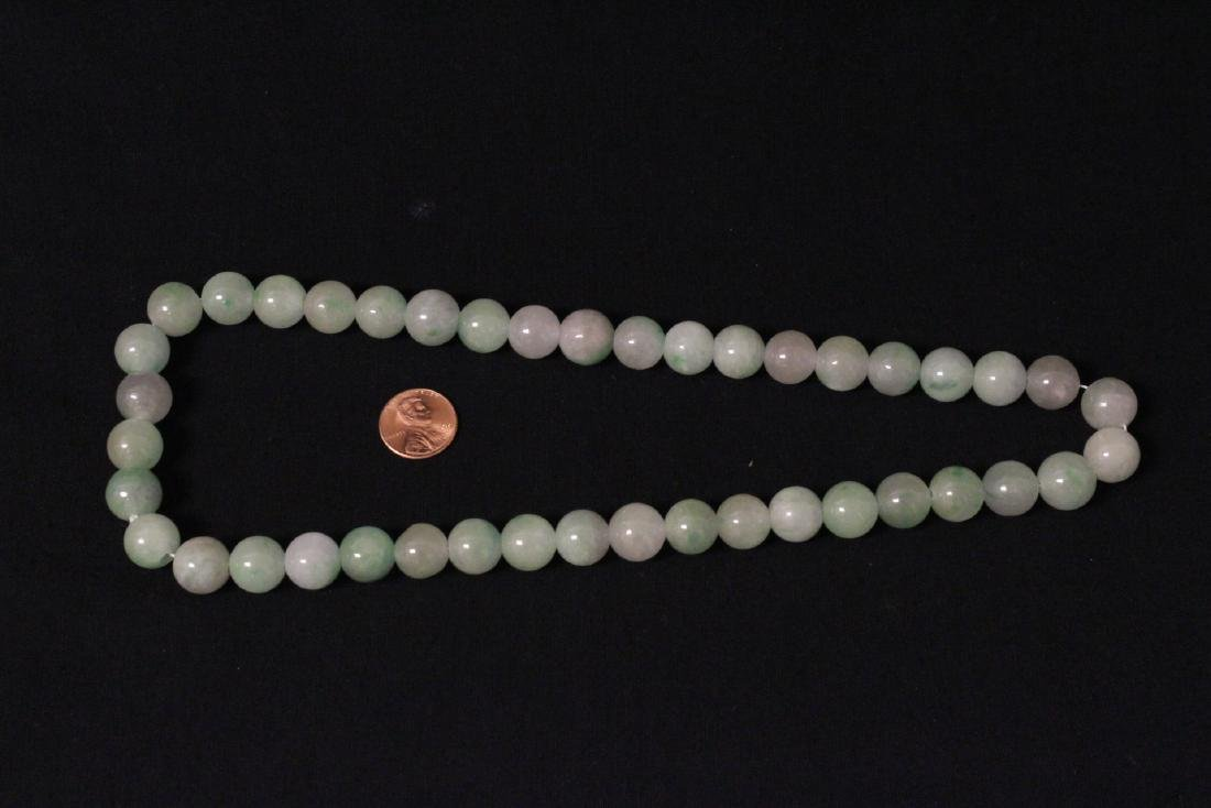 Chinese jadeite bead necklace