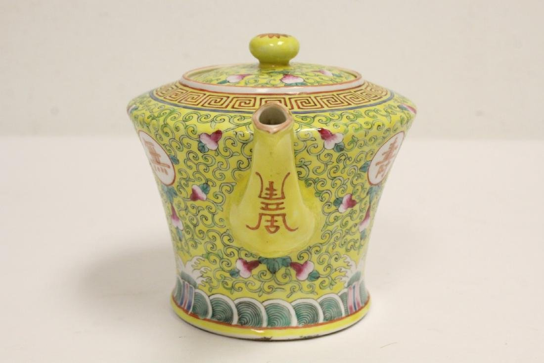 beautiful Chinese famille rose porcelain teapot - 2