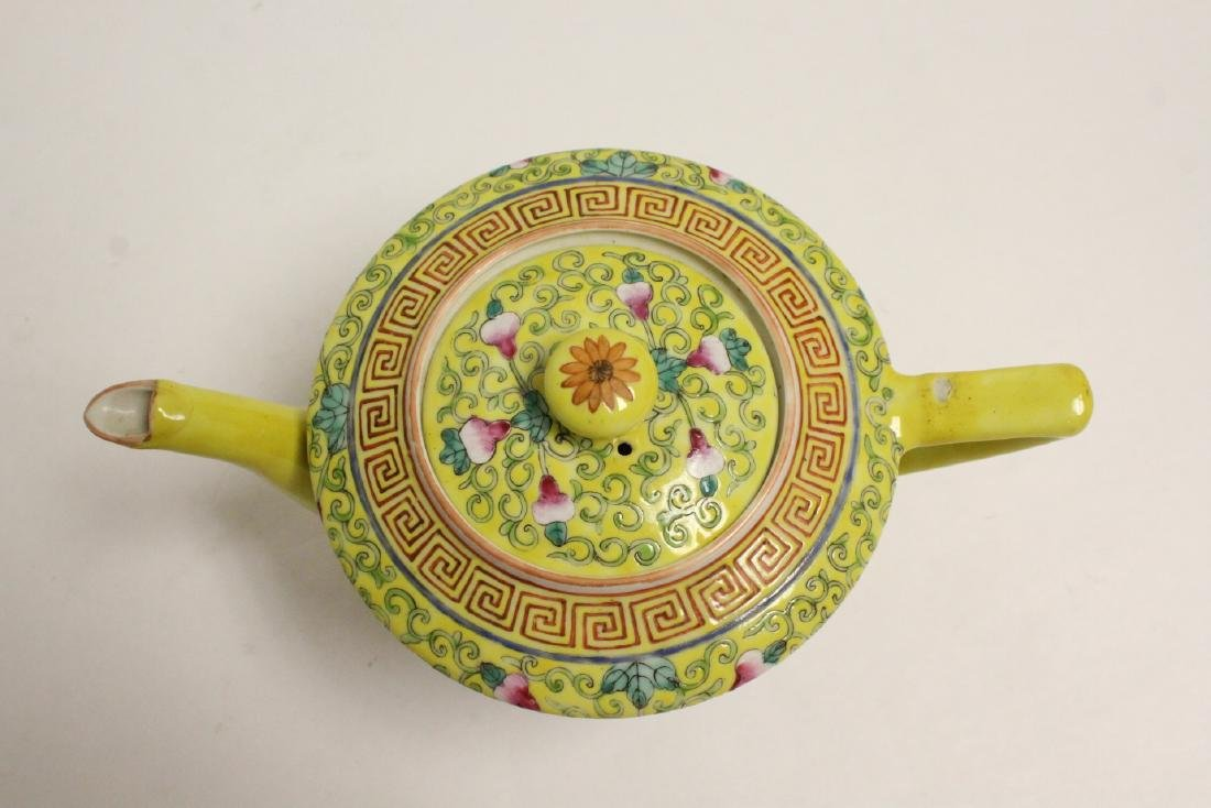 beautiful Chinese famille rose porcelain teapot - 5