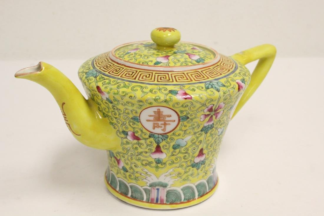 beautiful Chinese famille rose porcelain teapot - 9