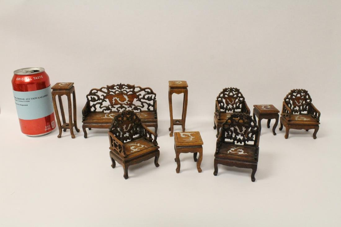 8 piece miniature living room set
