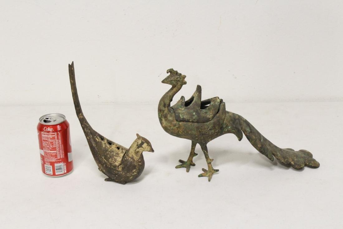 2 Japanese cast iron censer