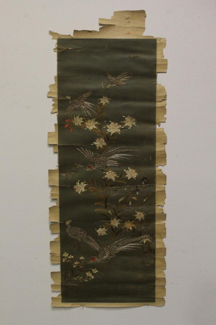 Chinese antique embroidery scroll