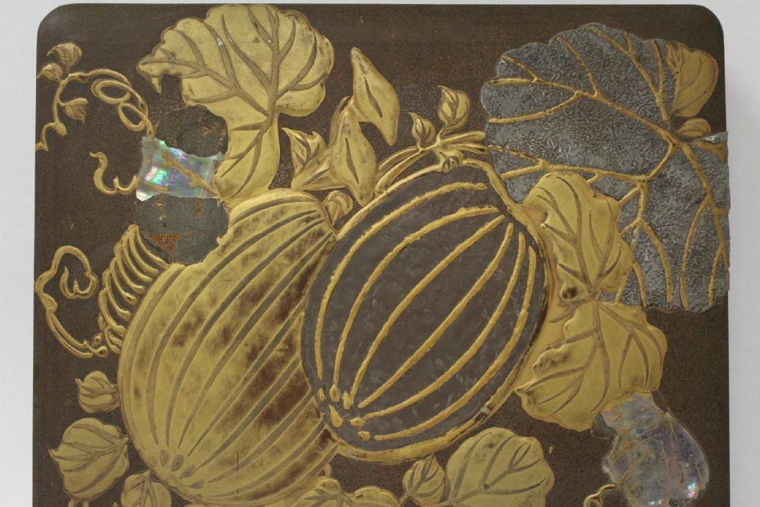 Japanese antique lacquer box - 10