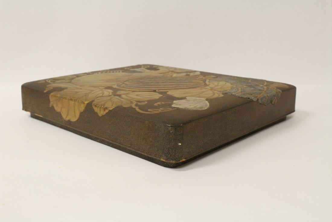 Japanese antique lacquer box - 3