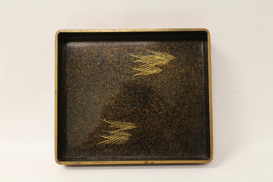 Japanese antique lacquer box - 5