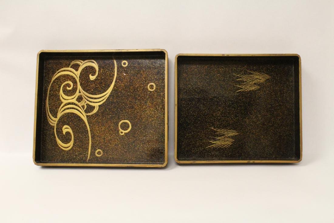 Japanese antique lacquer box - 6
