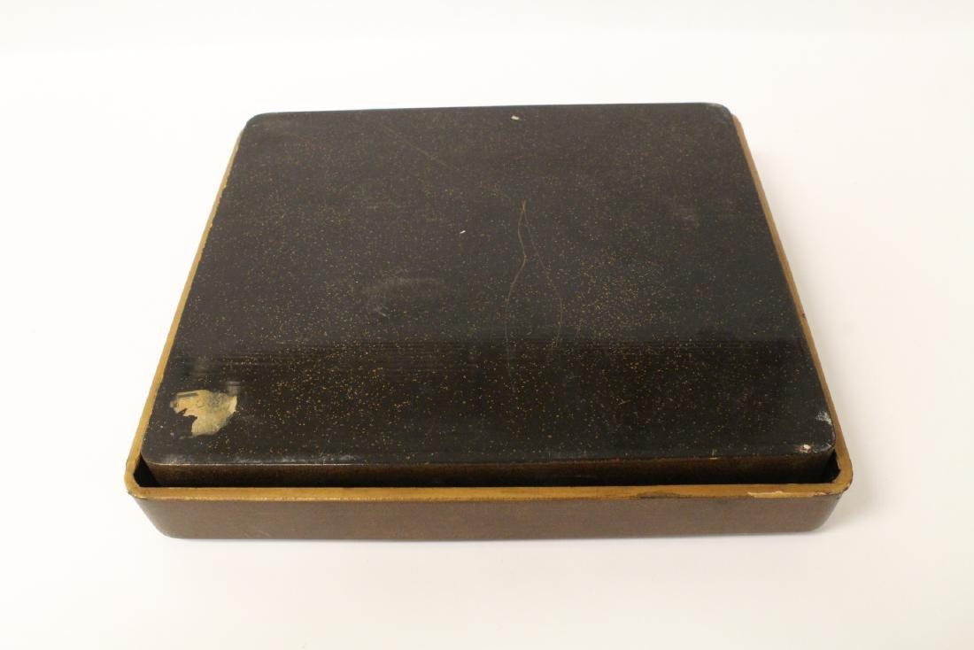 Japanese antique lacquer box - 7