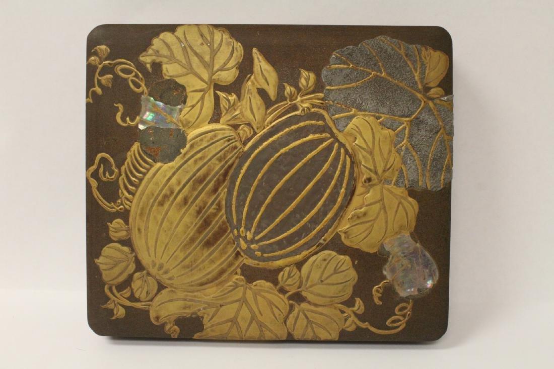 Japanese antique lacquer box - 8