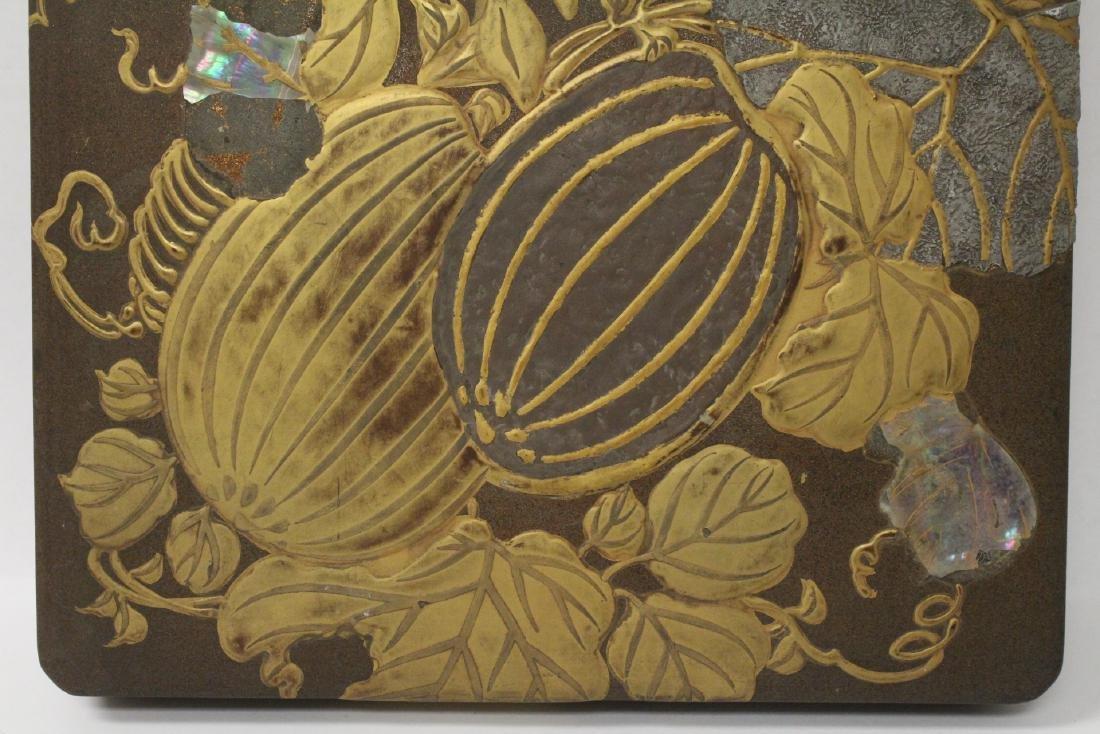 Japanese antique lacquer box - 9
