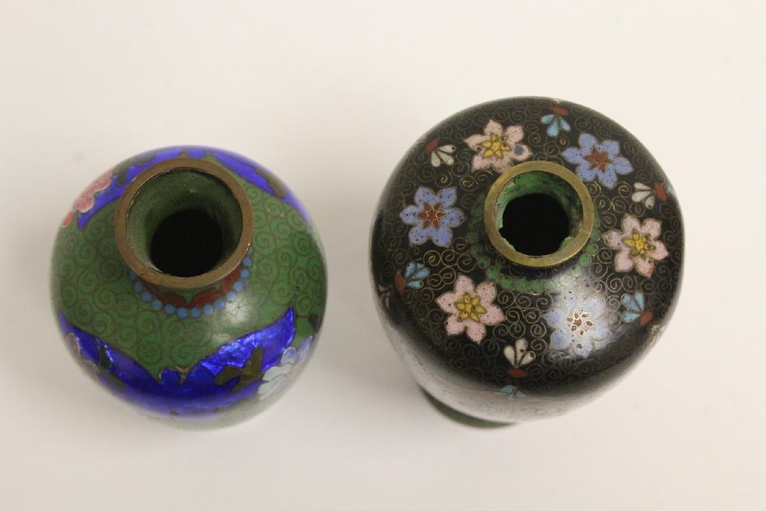 2 Japanese antique cloisonne vases - 5