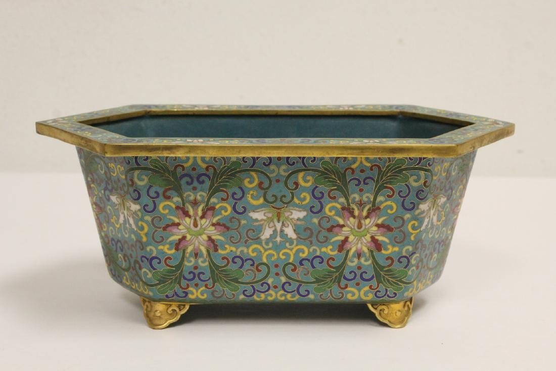 Chinese vintage cloisonne planter