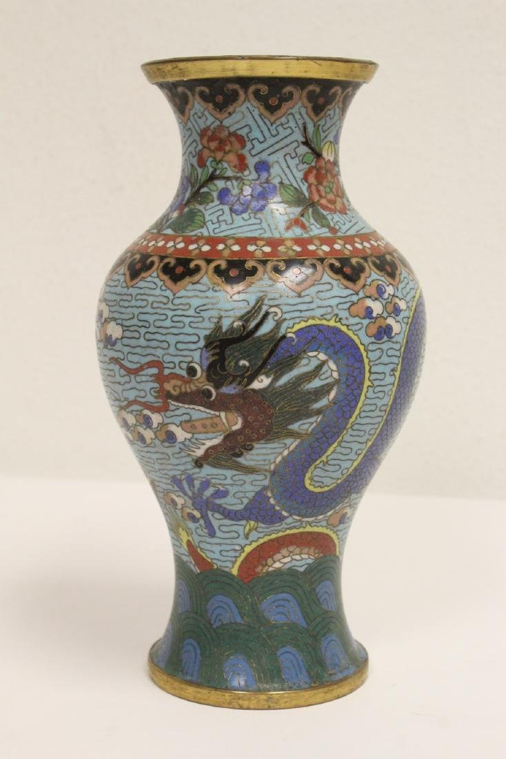 Chinese cloisonne vase decorated with dragon