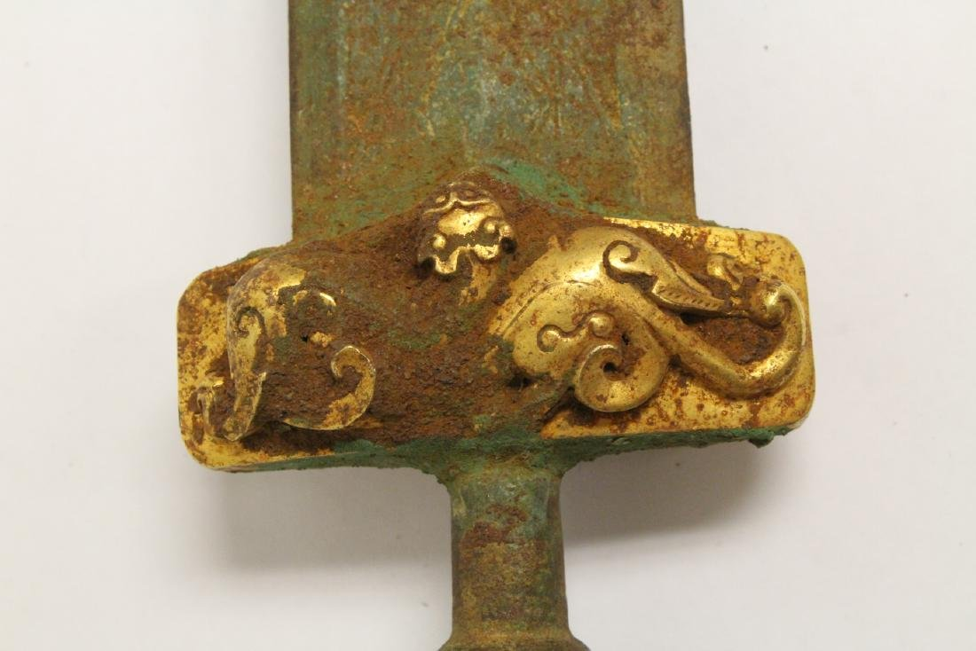 Chinese bronze sword - 9