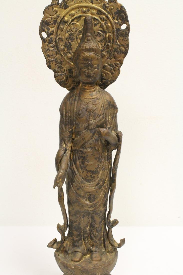 A vintage bronze sculpture of Buddha - 3