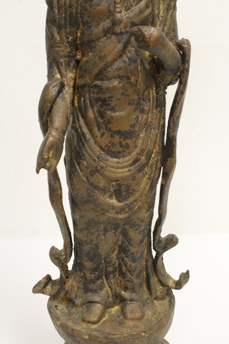 A vintage bronze sculpture of Buddha - 5