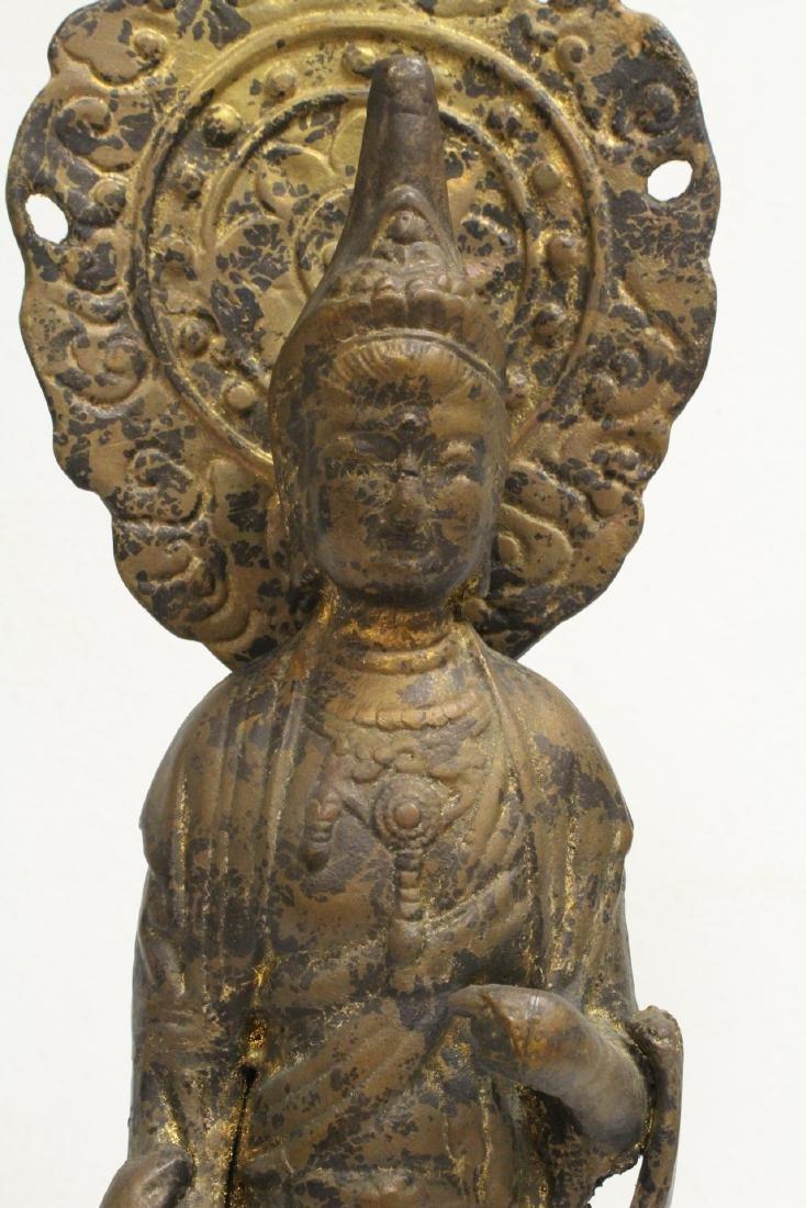 A vintage bronze sculpture of Buddha - 6