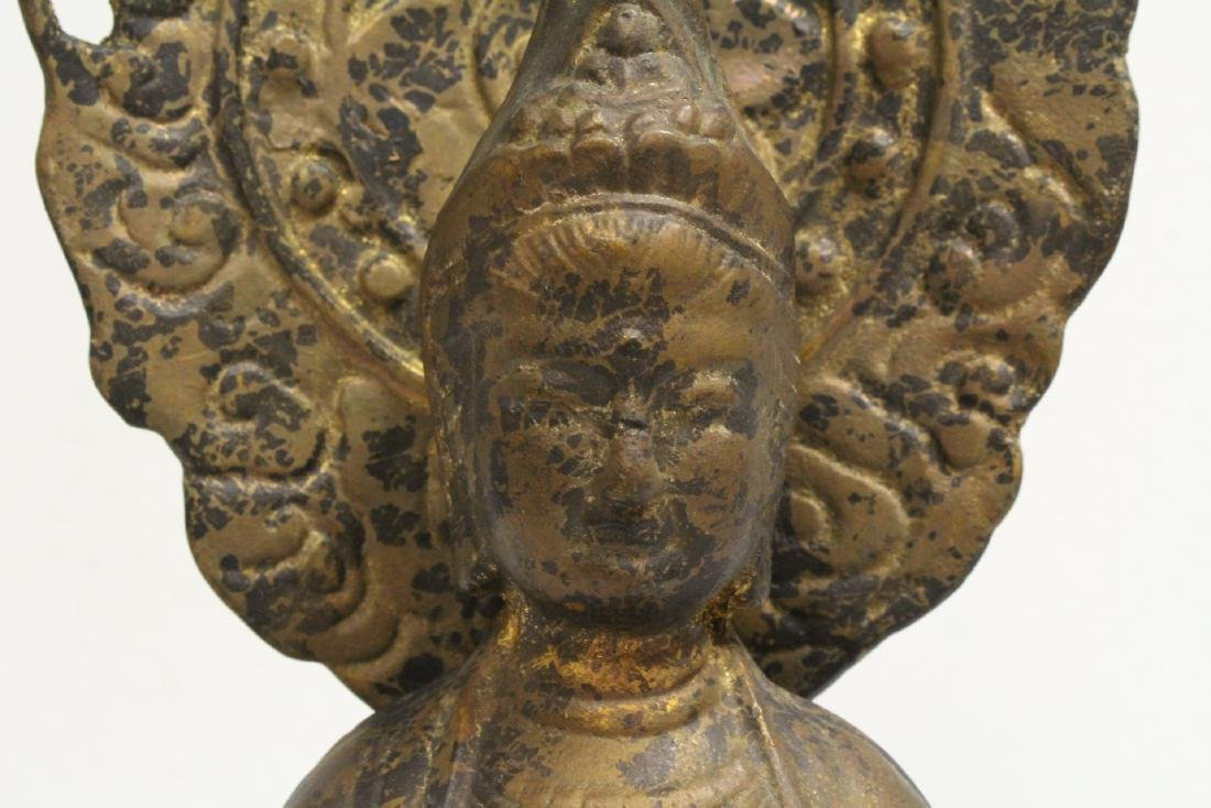 A vintage bronze sculpture of Buddha - 7