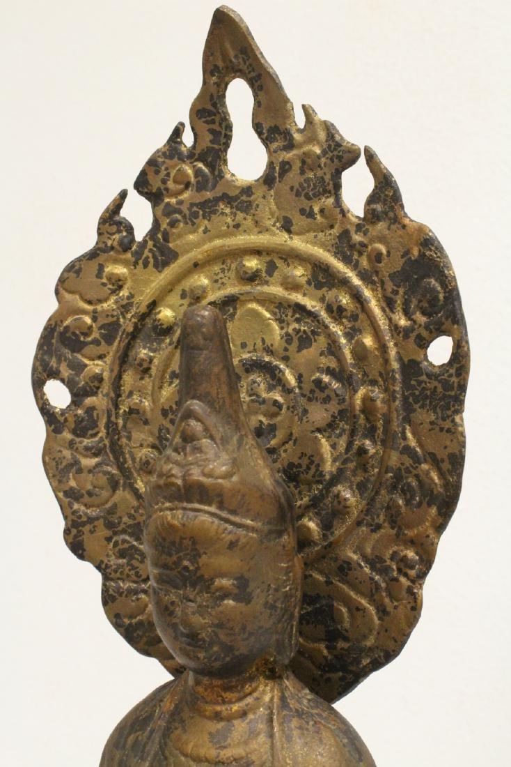 A vintage bronze sculpture of Buddha - 8